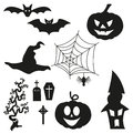 Halloween silhouetten set for your design Stock Photo