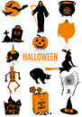 Halloween silhouettes Stock Photo
