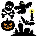 Halloween silhouettes collection 2 Stock Photo