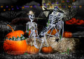 Stock Photo Halloween Skeletons Party