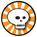 Halloween skull icon Stock Image