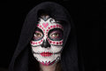 Halloween skull makeup Royalty Free Stock Photo