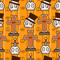 Halloween Skull Pattern Stock Photo