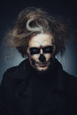 Halloween skull portrait of man with makeup Stock Photography