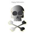 Halloween skull on a white background