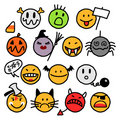 Halloween smileys Royalty Free Stock Image