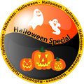 Halloween special button 1 Royalty Free Stock Photo