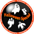 Halloween special button Royalty Free Stock Photo