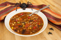 Halloween Spider with Chili Stock Photo