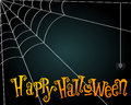 Halloween spiderweb illustration vector hand drawn style background with Royalty Free Stock Images