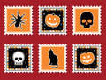 Halloween stamps Royalty Free Stock Photos