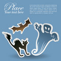 Halloween sticker Royalty Free Stock Images