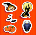 Halloween stickers Stock Photos