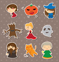 Halloween stickers Royalty Free Stock Photos