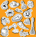 Halloween stickers Royalty Free Stock Photo