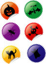 Halloween stickers Royalty Free Stock Images