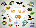 Halloween symbols and icons collection Royalty Free Stock Photo