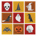 Halloween symbols vector illustration of Stock Image