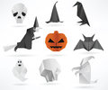 Halloween symbols vector illustration of Royalty Free Stock Photos