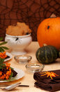 Halloween Table Royalty Free Stock Image