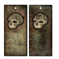 Halloween tags or bookmarks with skulls Stock Image