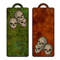 Halloween tags or bookmarks with skulls Royalty Free Stock Image