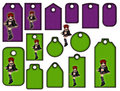 Halloween tags or labels collection with witch Royalty Free Stock Photo