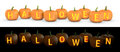 Halloween text carved on pumpkin jack lantern Royalty Free Stock Images