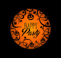 Halloween text pumpkin lantern and spooky forest b happy party over orange full moon with concept background eps vector file Stock Photo
