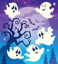 Halloween theme image eps vector illustration Royalty Free Stock Image