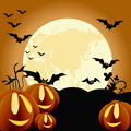 Halloween themed background illustration Royalty Free Stock Image