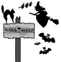 Halloween time sign icon and pictogram Royalty Free Stock Photos