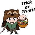 Halloween: treak treating action Royalty Free Stock Images