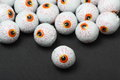 Halloween treats chocolate candy eyeballs for Royalty Free Stock Images