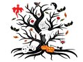 Halloween tree Royalty Free Stock Photography