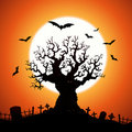 Halloween Tree Royalty Free Stock Photo
