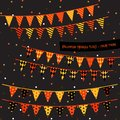 Halloween triangle flags