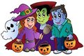 Halloween trick or treat characters Royalty Free Stock Images