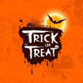 Halloween trick or treat message on orange background illustration Stock Photos