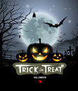 Halloween trick or treat pumpkin design background illustration Stock Photo