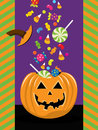 Halloween trick or treat a vector illustration of see related image Stock Images