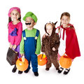 Halloween Trick-or-Treaters Royalty Free Stock Photo