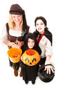 Halloween Trick Or Treaters Isolated Royalty Free Stock Photo