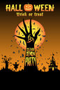 Halloween unleash the demon party Royalty Free Stock Photo