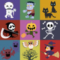 Halloween a variety of roles Royalty Free Stock Images