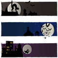 Halloween vector banners Royalty Free Stock Photography