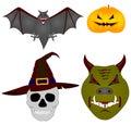 Halloween. Vector beelden Royalty-vrije Stock Afbeelding