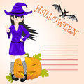 Halloween vector card this is file of eps format Stock Photos