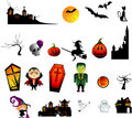 Halloween vector characters Royalty Free Stock Images