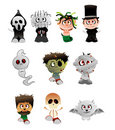 Halloween vector characters Stock Photography